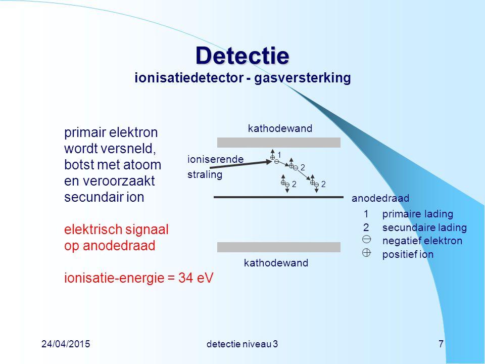 Detectie ionisatiedetector - gasversterking