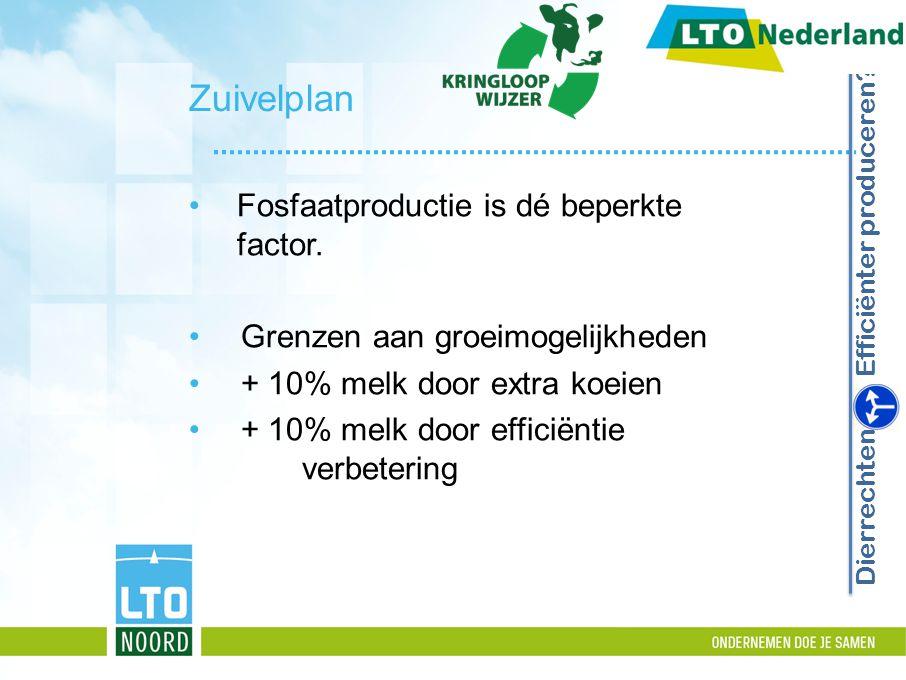 Zuivelplan Fosfaatproductie is dé beperkte factor.