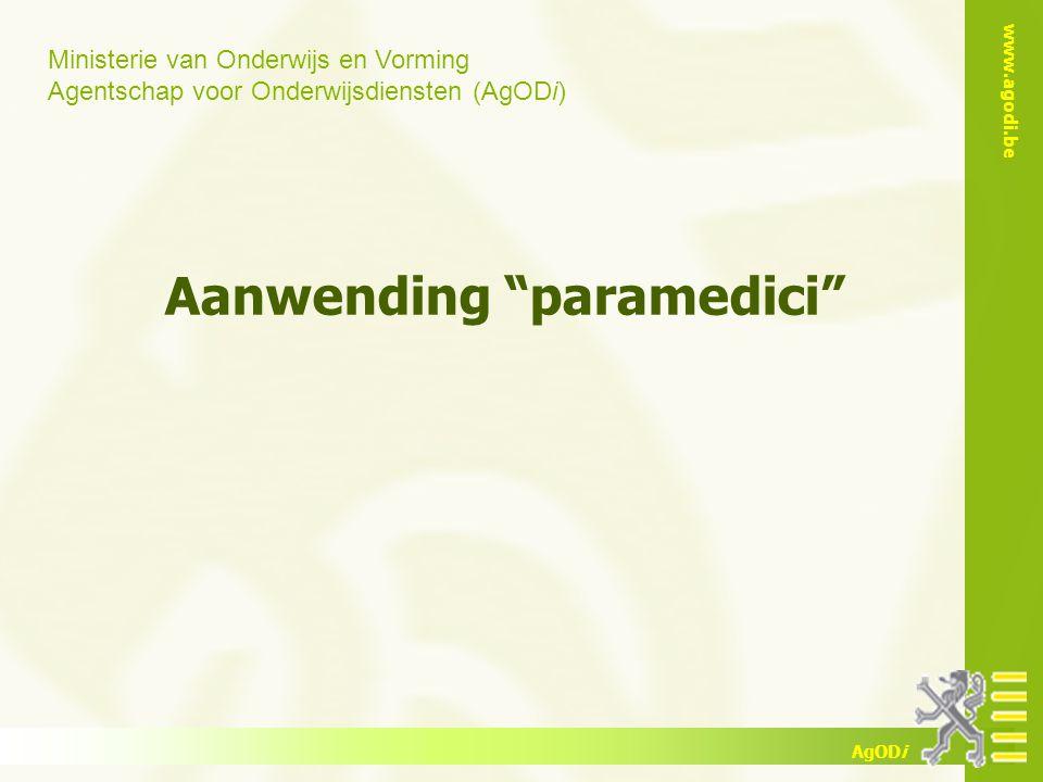 Aanwending paramedici