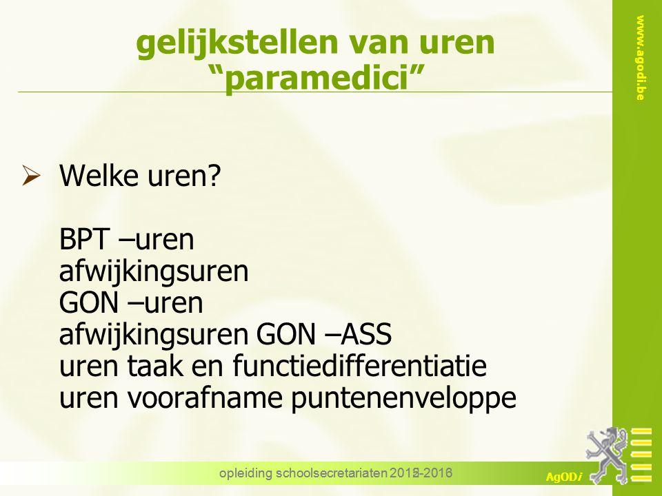 gelijkstellen van uren paramedici