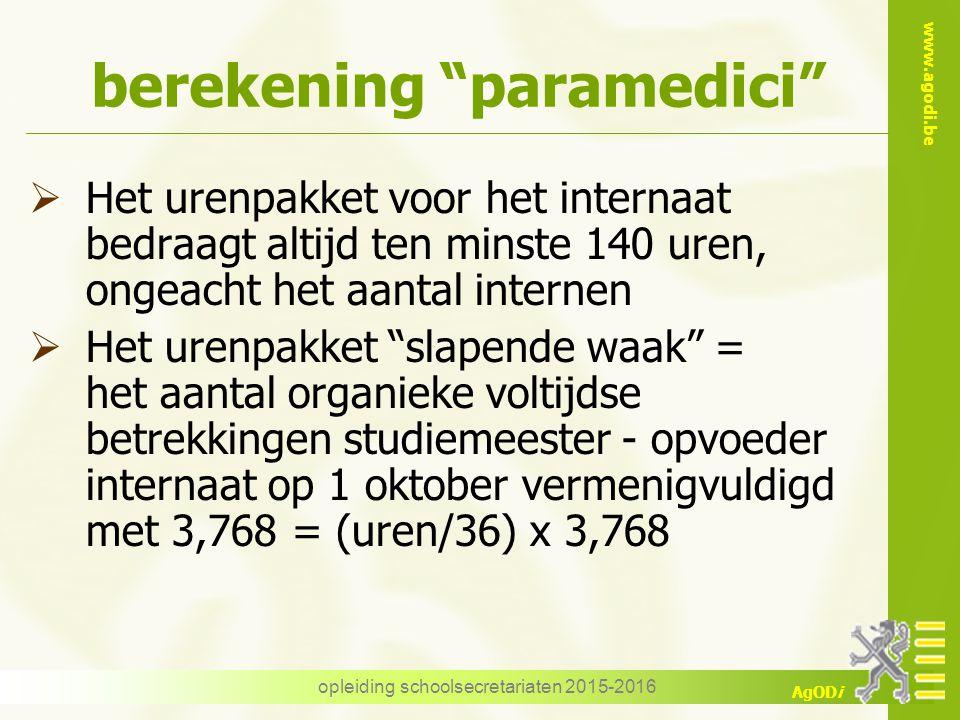 berekening paramedici
