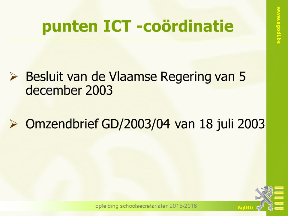 punten ICT -coördinatie