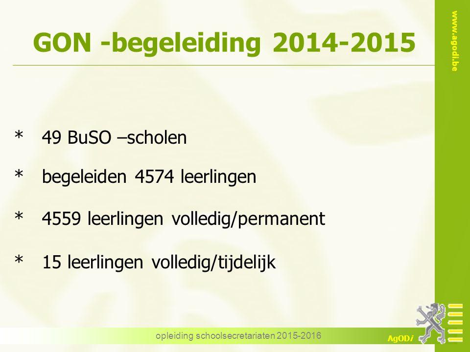 opleiding schoolsecretariaten 2015-2016