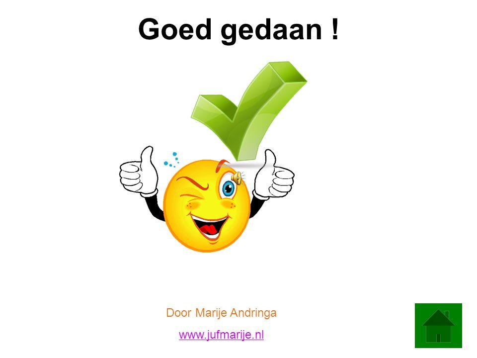Goed gedaan ! Door Marije Andringa www.jufmarije.nl