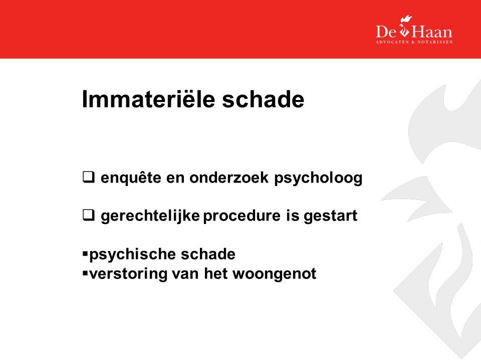 Immateriële schade enquête en onderzoek psycholoog