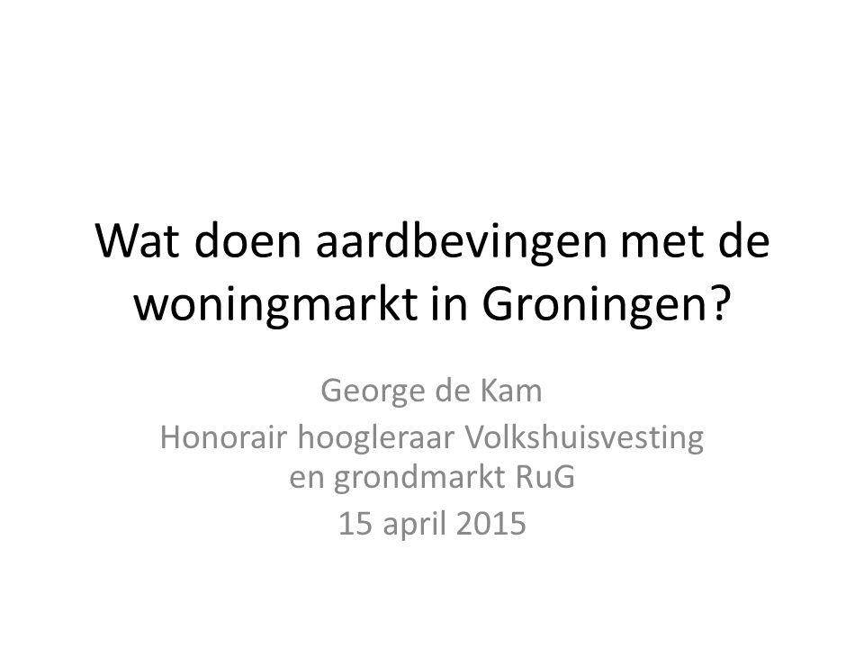 Wat doen aardbevingen met de woningmarkt in Groningen