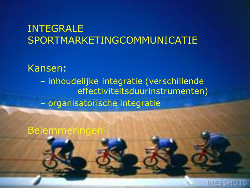 INTEGRALE SPORTMARKETINGCOMMUNICATIE
