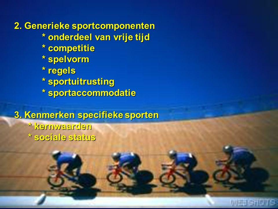 2. Generieke sportcomponenten