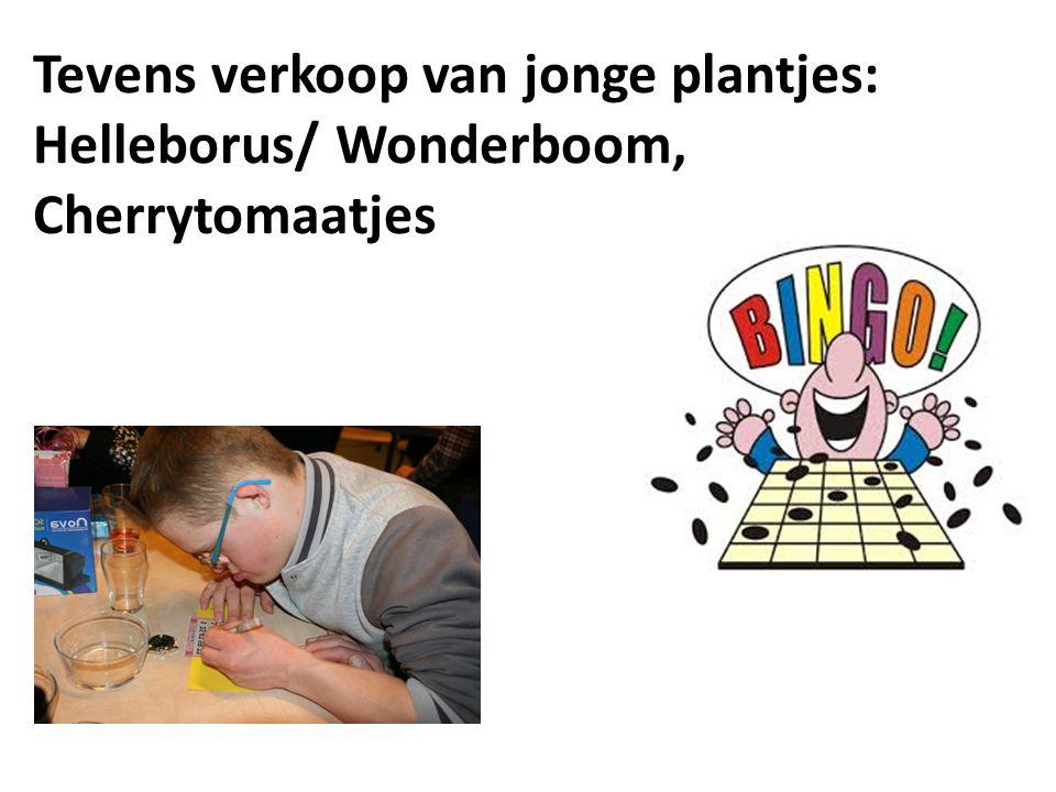 Tevens verkoop van jonge plantjes: