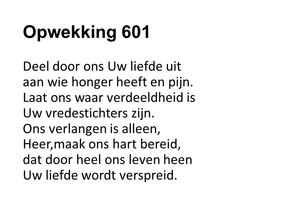 Opwekking 601