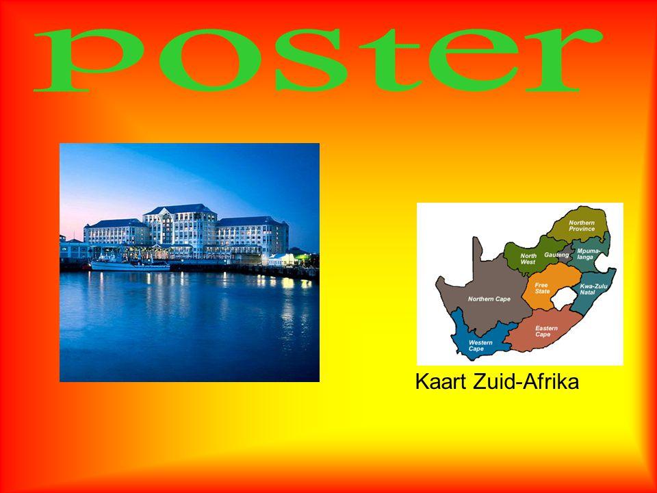 poster Kaart Zuid-Afrika