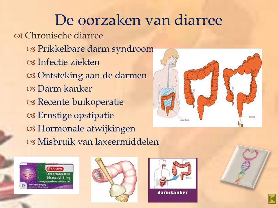 De oorzaken van diarree