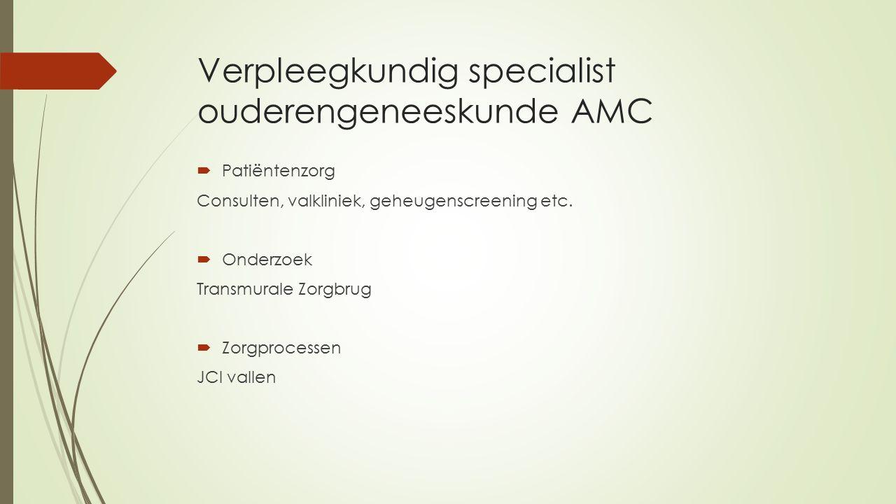 Verpleegkundig specialist ouderengeneeskunde AMC