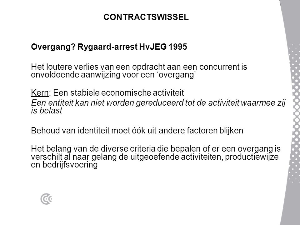 CONTRACTSWISSEL Overgang Rygaard-arrest HvJEG 1995.