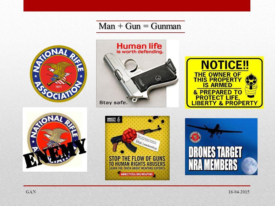 Man + Gun = Gunman GAN 16-04-2015