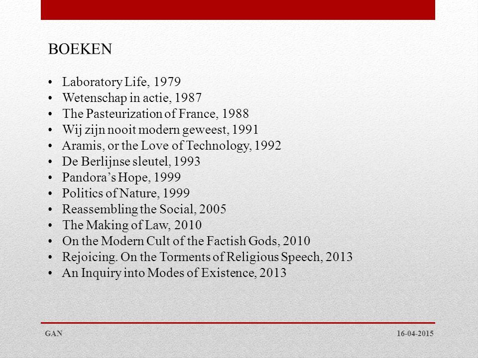 BOEKEN Laboratory Life, 1979 Wetenschap in actie, 1987