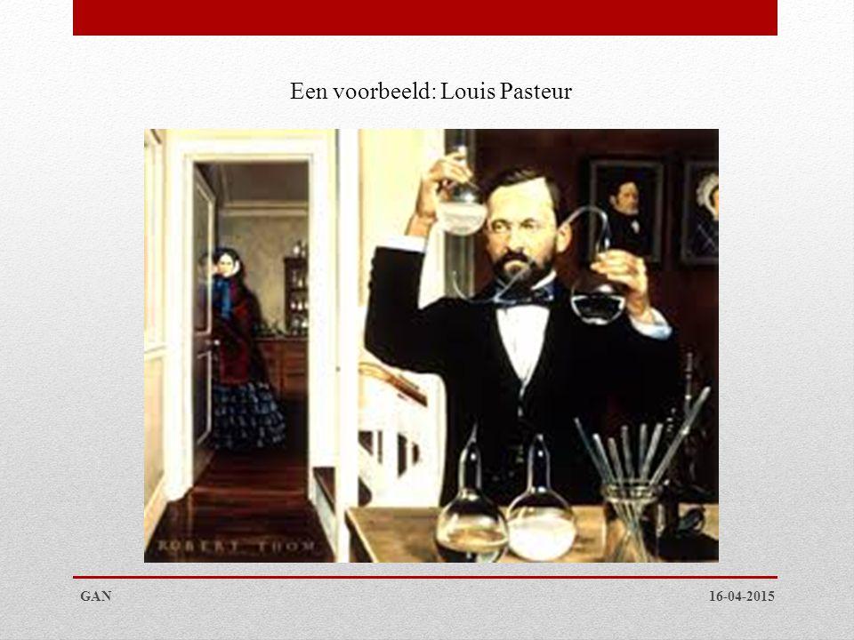 Een voorbeeld: Louis Pasteur