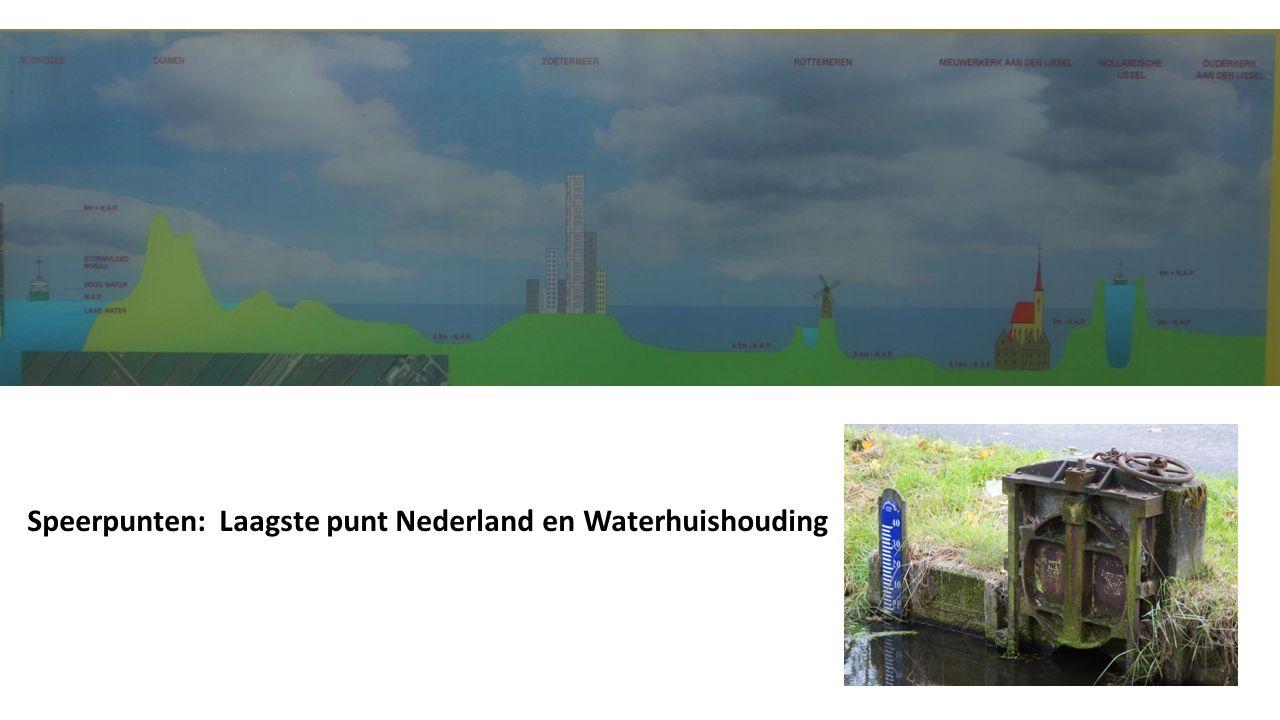 Speerpunten: Laagste punt Nederland en Waterhuishouding