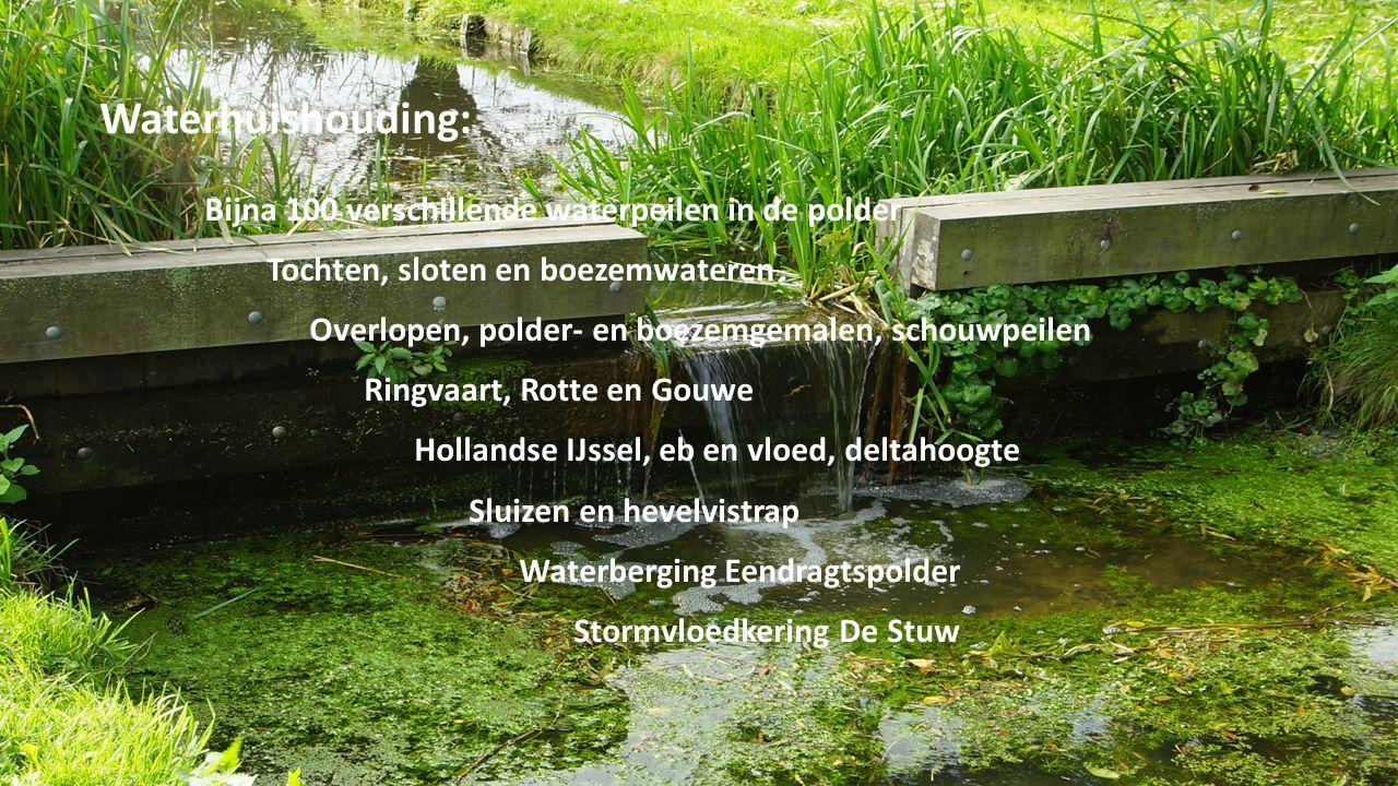 Waterhuishouding: Bijna 100 verschillende waterpeilen in de polder