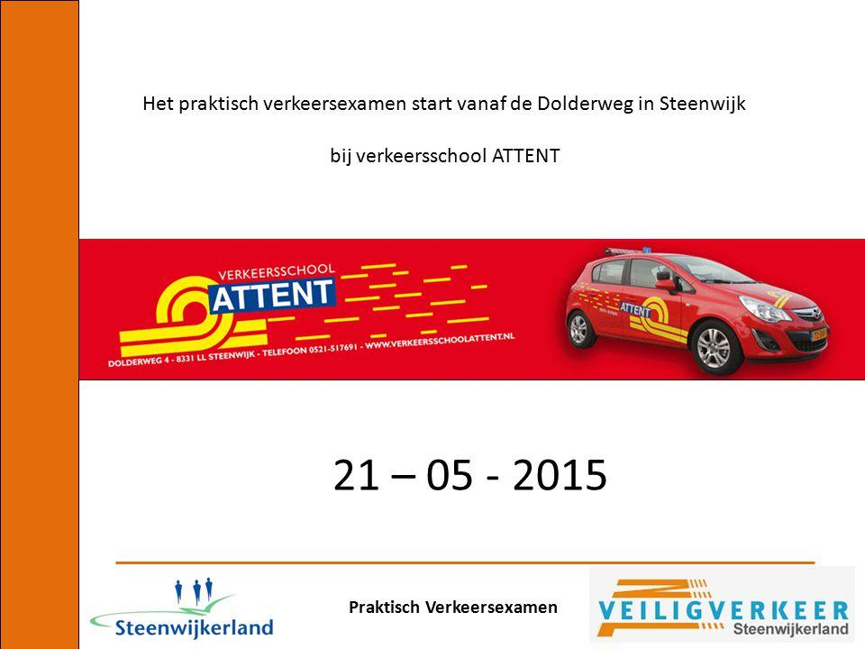 Het praktisch verkeersexamen start vanaf de Dolderweg in Steenwijk