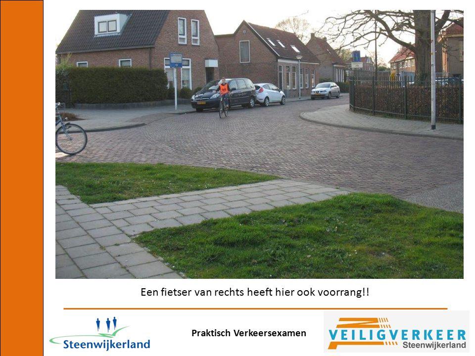 Een fietser van rechts heeft hier ook voorrang!!