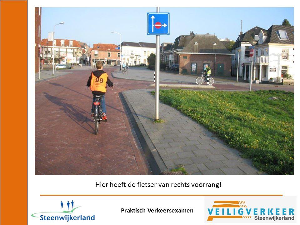 Hier heeft de fietser van rechts voorrang!