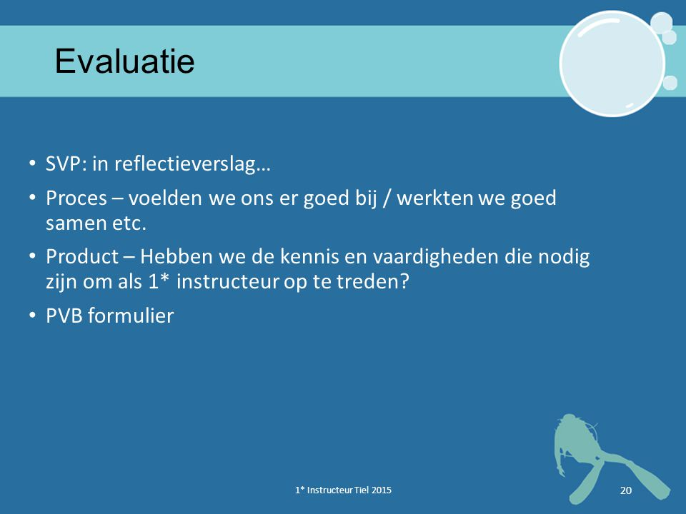 Evaluatie SVP: in reflectieverslag…