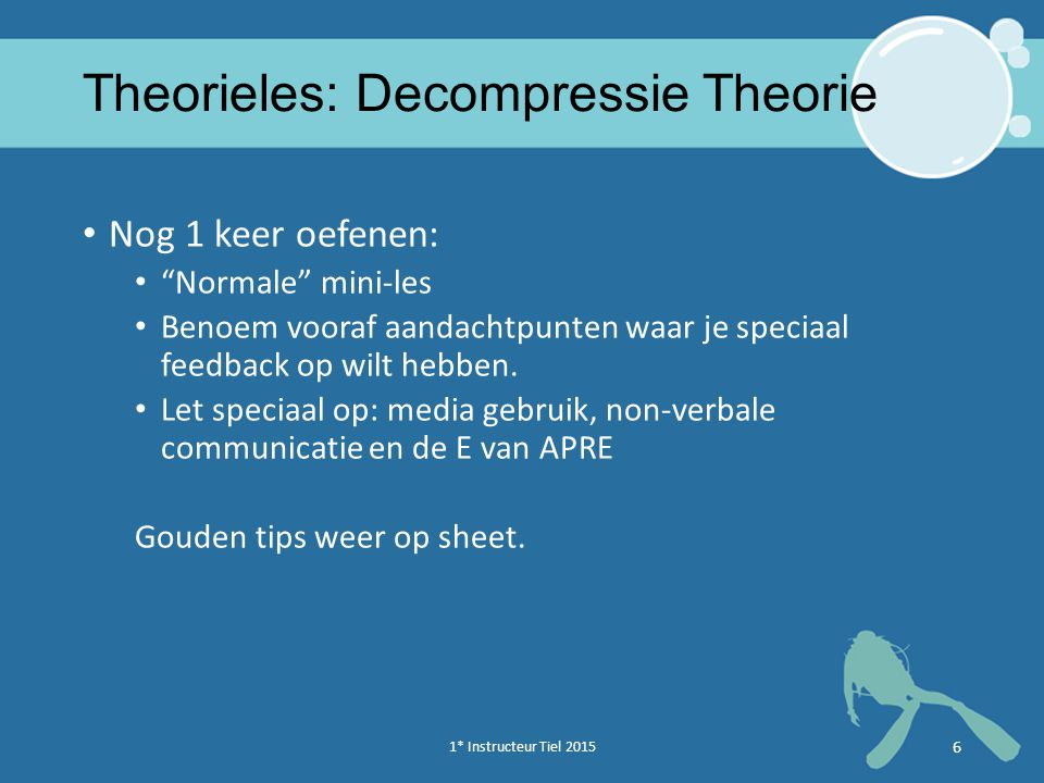 Theorieles: Decompressie Theorie