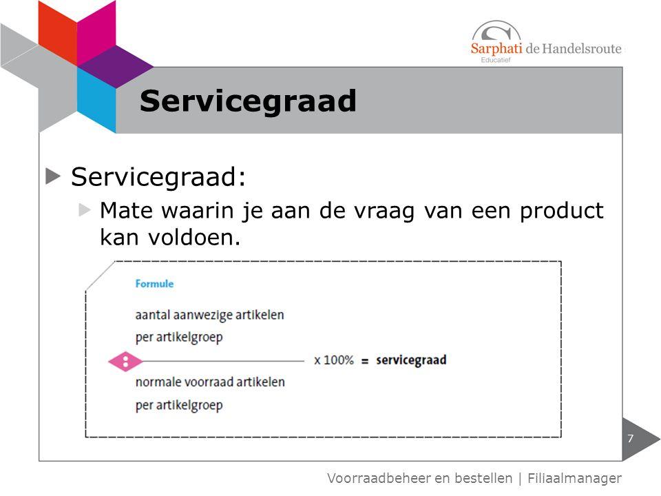Servicegraad Servicegraad: