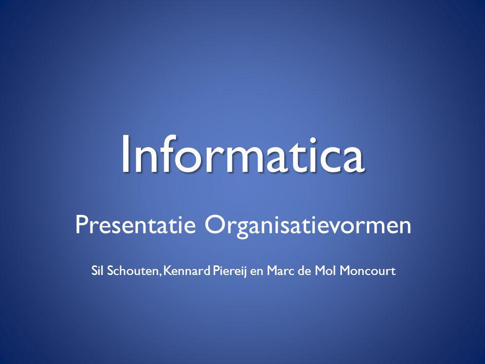 Informatica Presentatie Organisatievormen