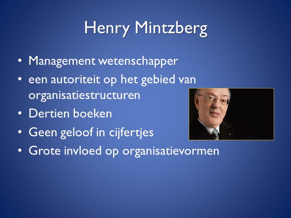 Henry Mintzberg Management wetenschapper