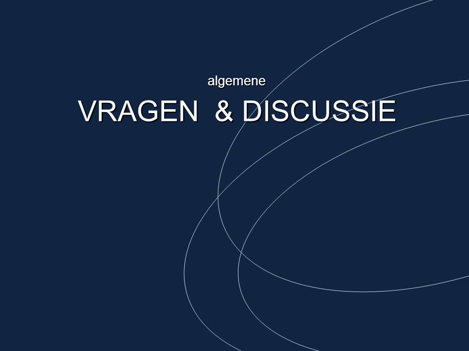 algemene VRAGEN & DISCUSSIE