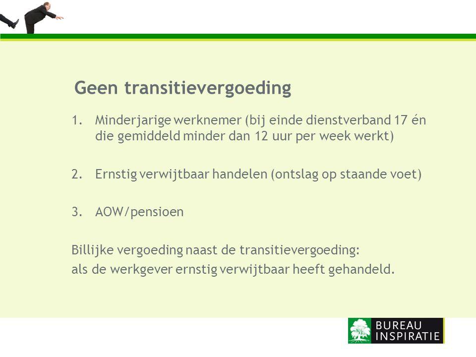 Geen transitievergoeding
