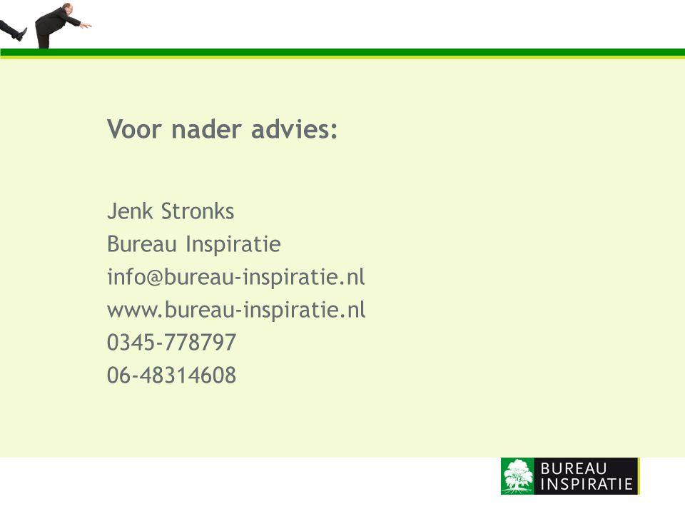 Voor nader advies: Jenk Stronks Bureau Inspiratie