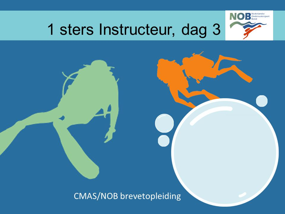 CMAS/NOB brevetopleiding