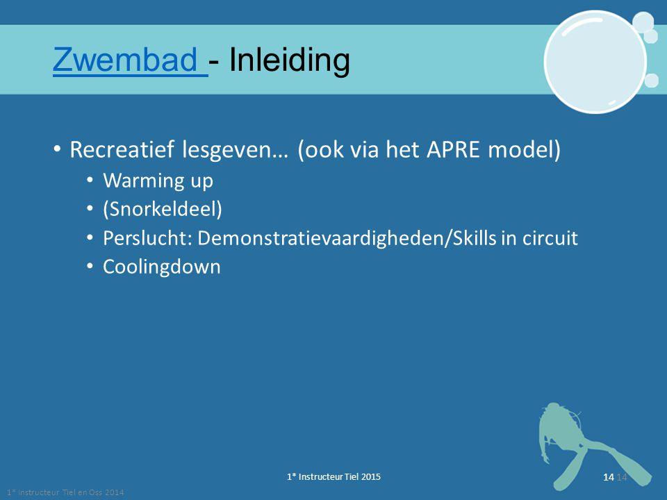 Zwembad - Inleiding Recreatief lesgeven… (ook via het APRE model)