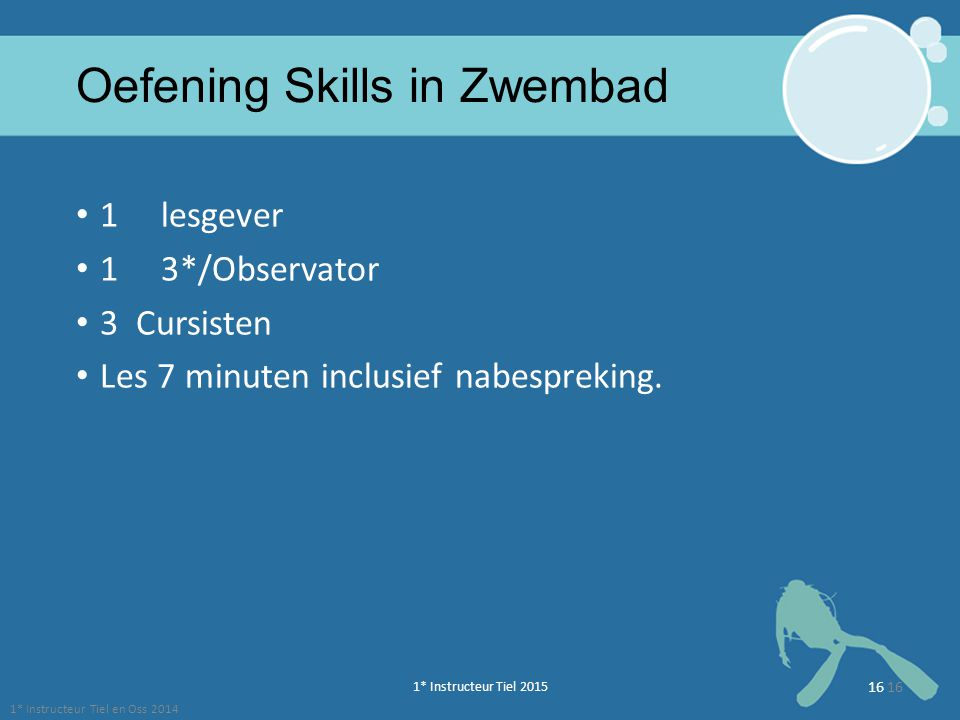 Oefening Skills in Zwembad