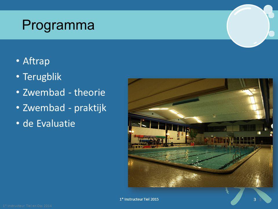 Programma Aftrap Terugblik Zwembad - theorie Zwembad - praktijk