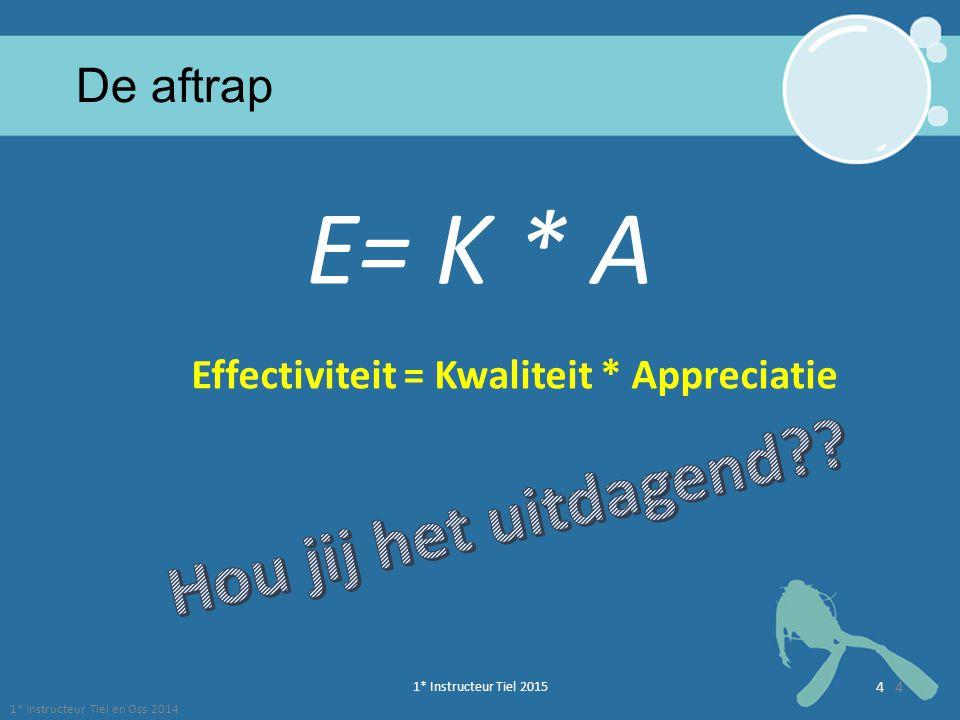 Effectiviteit = Kwaliteit * Appreciatie