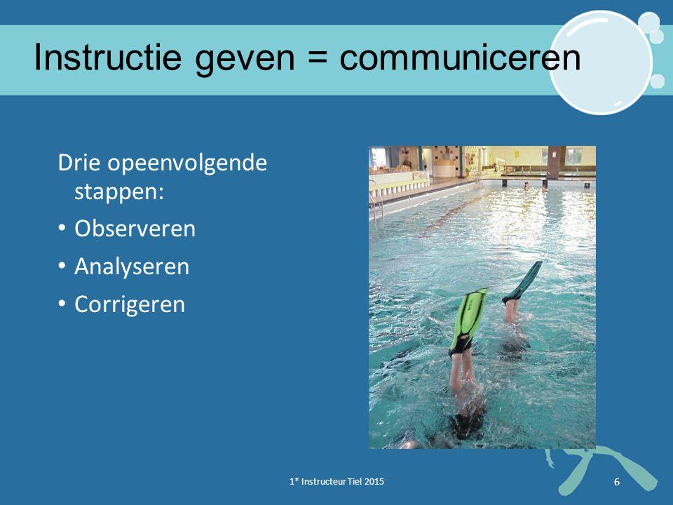 Instructie geven = communiceren