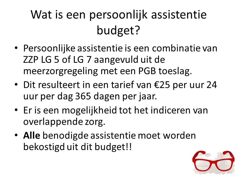 Wat is een persoonlijk assistentie budget