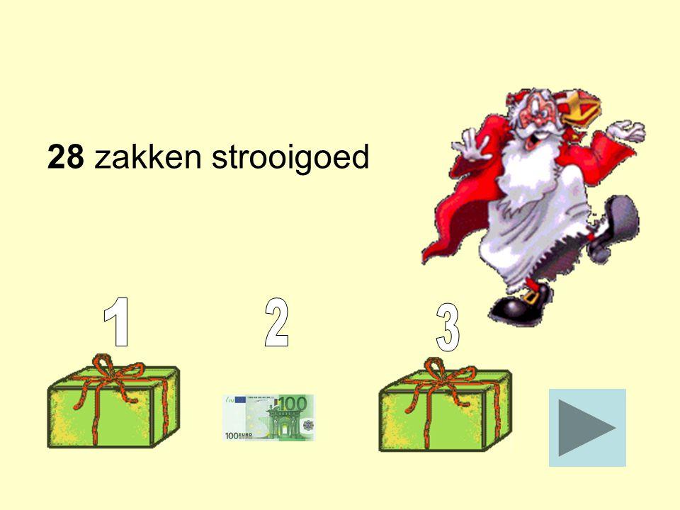 28 zakken strooigoed 1 2 3