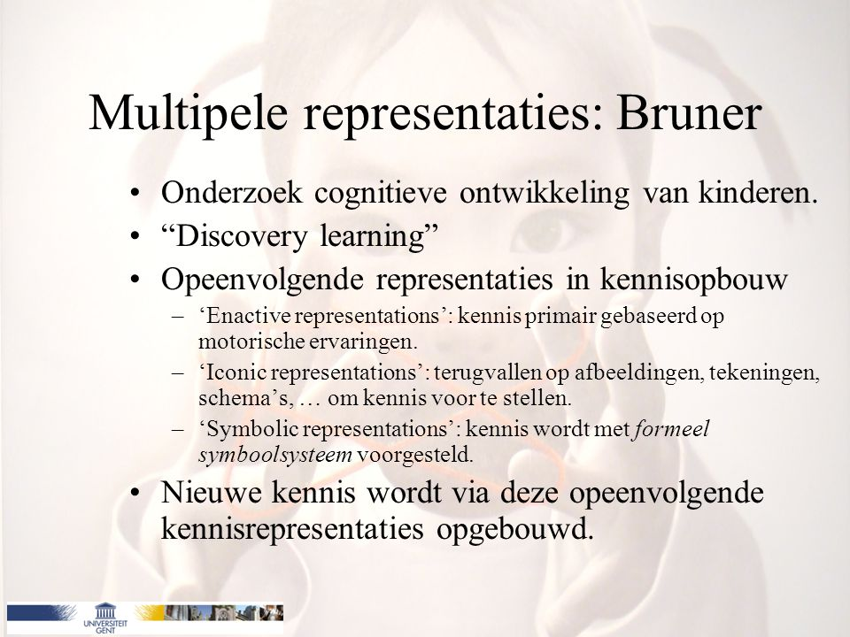 Multipele representaties: Bruner