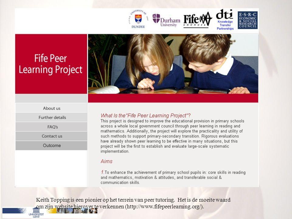 Keith Topping is een pionier op het terrein van peer tutoring