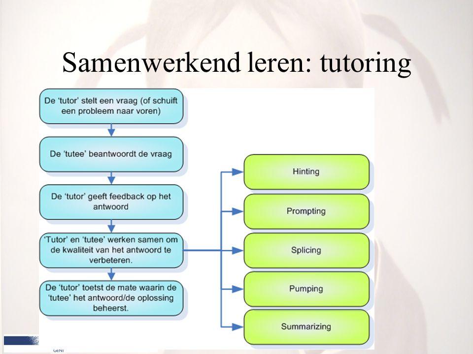 Samenwerkend leren: tutoring