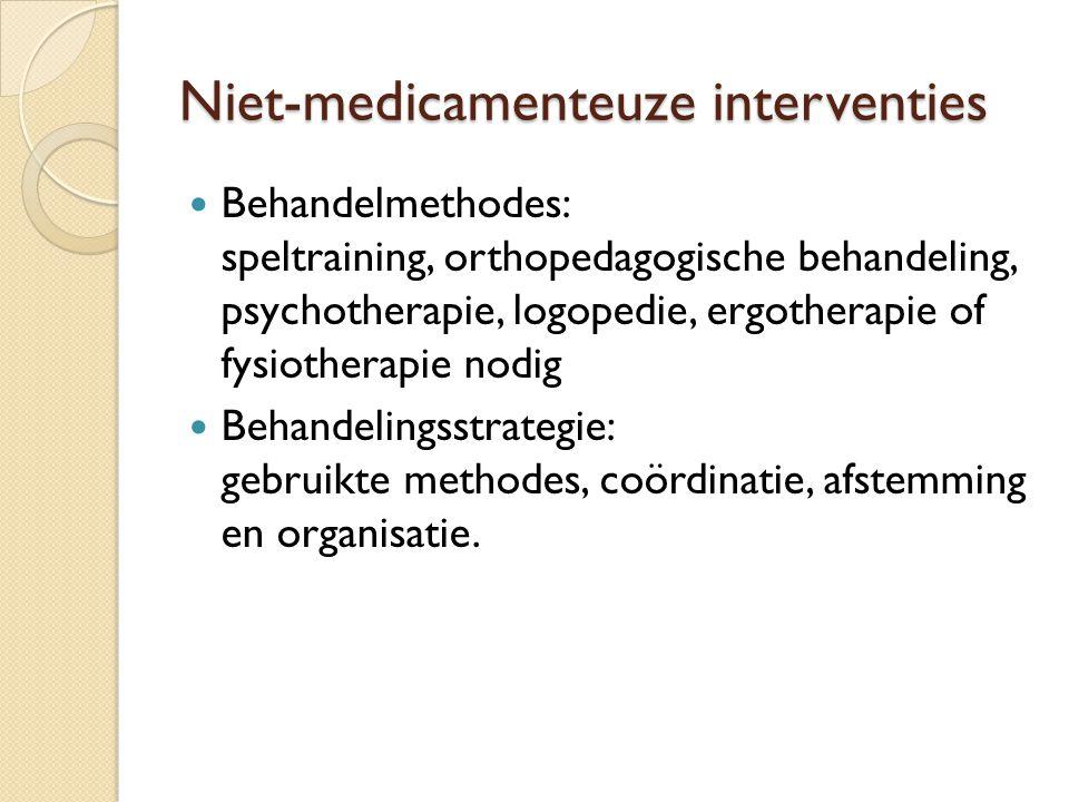 Niet-medicamenteuze interventies