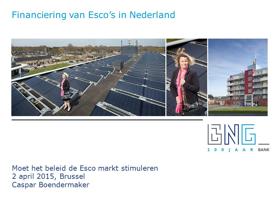 Financiering van Esco's in Nederland