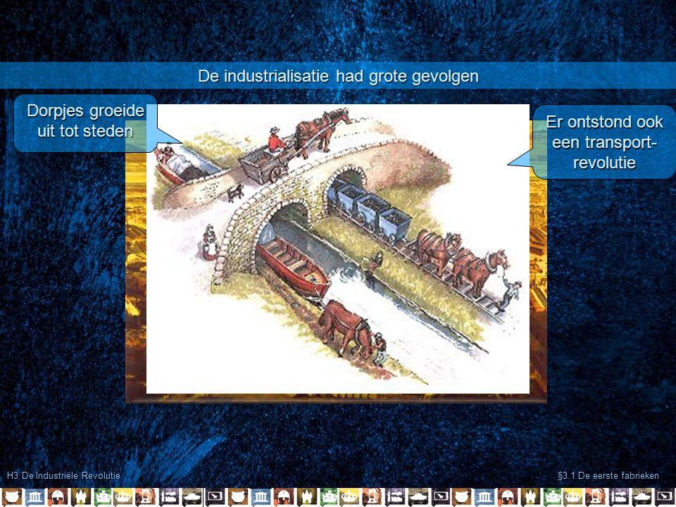De industrialisatie had grote gevolgen