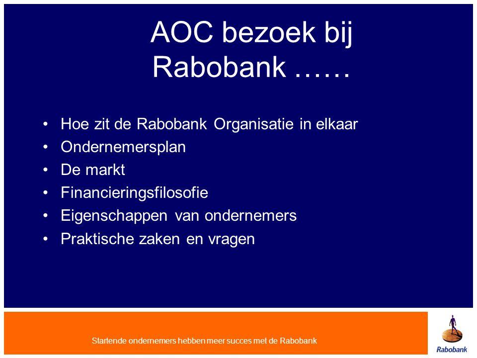 AOC bezoek bij Rabobank ……