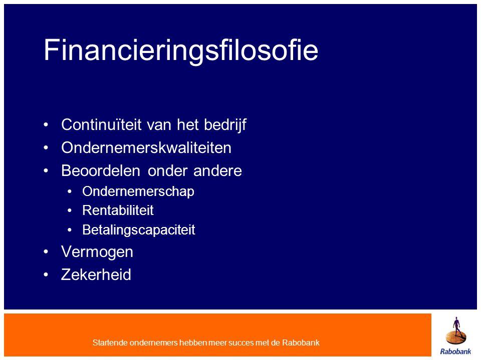 Financieringsfilosofie